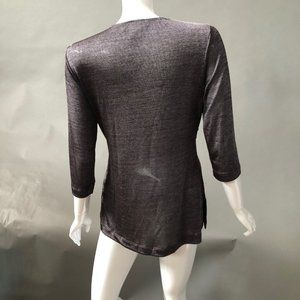 CSC Studio Tops - Silver Twist Front Top Made in US NWOT